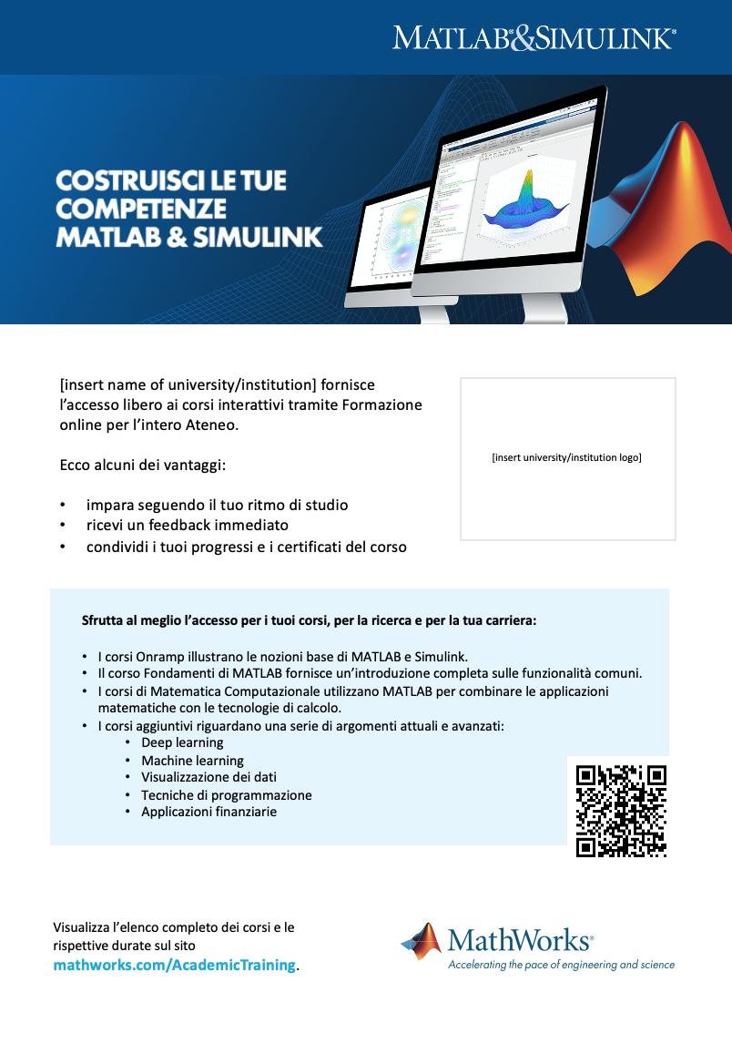 Modello poster Formazione online Campus-Wide License A4