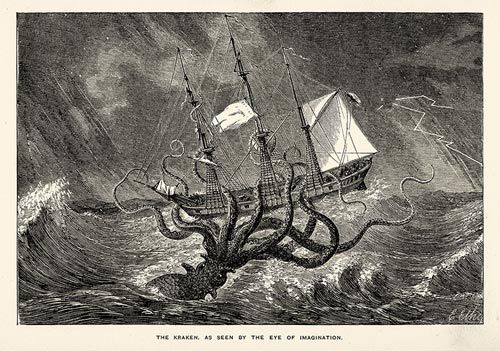 Illustration of the Kraken.