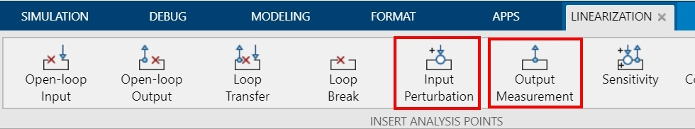 Figure 2. Linearization Manager toolstrip with linearization points specified.