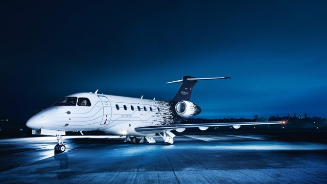 The Embraer Legacy 500.