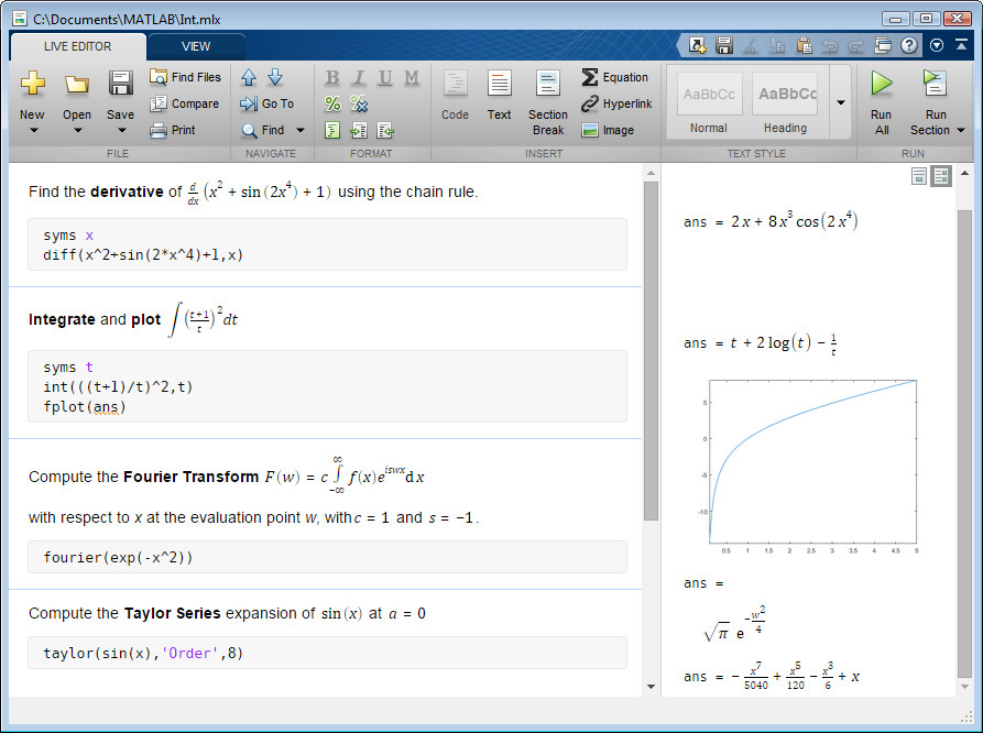 Argomenti Symbolic Math Toolbox Matlab