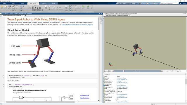 Utilizzo di Reinforcement Learning Toolbox per progettare e addestrare criteri.