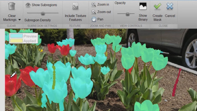 With the Image Segmentation app, you can preview how images will look after segmenting them with intensity-based approaches as well as techniques such as graph cut, circle finding, and region growing.