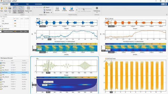 Scopri come eseguire attività di analisi di segnali come la pre-elaborazione, il filtraggio e l'estrazione di feature in MATLAB con l'app Signal Analyzer.