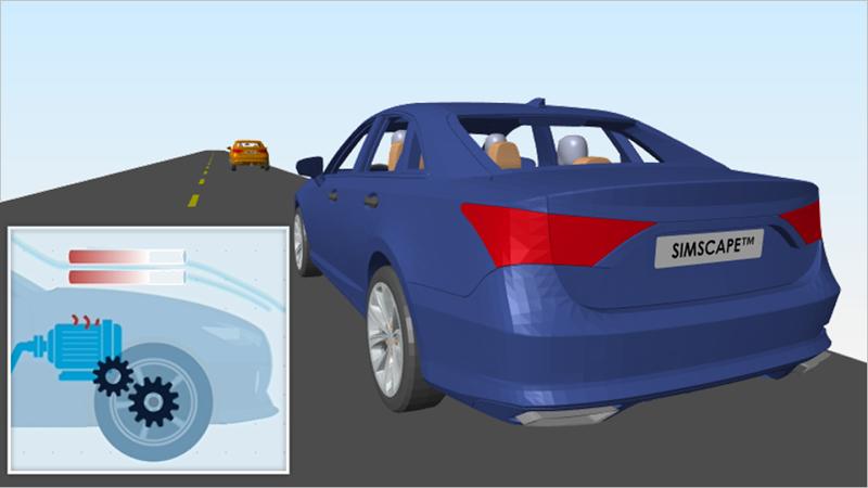 Scopri in che modo Simscape consente di modellare sistemi fisici mediante la modellazione di un veicolo elettrico a batterie. Scopri come assemblare uno schema di componenti elettrici, meccanici e fluidi in un modello che aiuta a ridimensionare i componenti e prendere decisioni di progettazione.