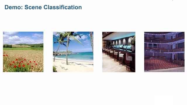 Utilizza le tecniche di machine learning in MATLAB per il riconoscimento di scene in base alle caratteristiche distintive all'interno delle immagini.