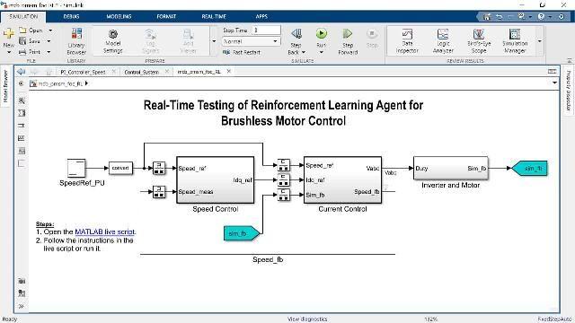 Questo video mostra il controllo Field-Oriented di un PMSM utilizzando il reinforcement learning. L'agente del reinforcement learning è progettato e addestrato per sostituire i controller PI interni per il loop corrente dell'architettura di controllo Field-Oriented.