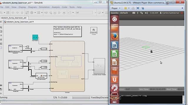 Guarda un robot industriale, programmato con MATLAB e Simulink, che scrive un messaggio a sorpresa su un pannello di vetro.