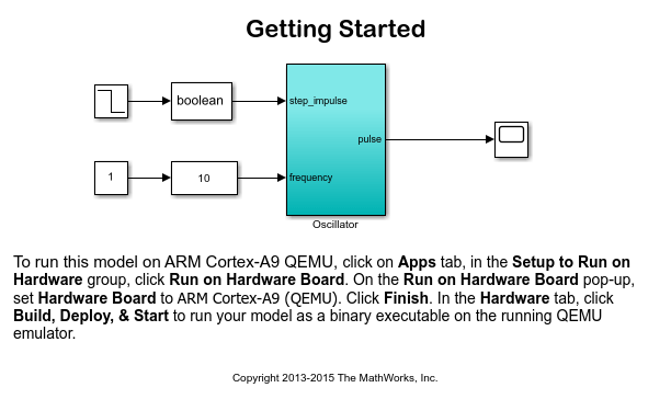 Getting Started with Embedded Coder Support Package for ARM