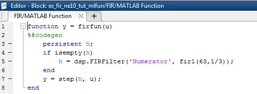 Support NE10 Library C Code Generation of dsp FIRFilter in MATLAB