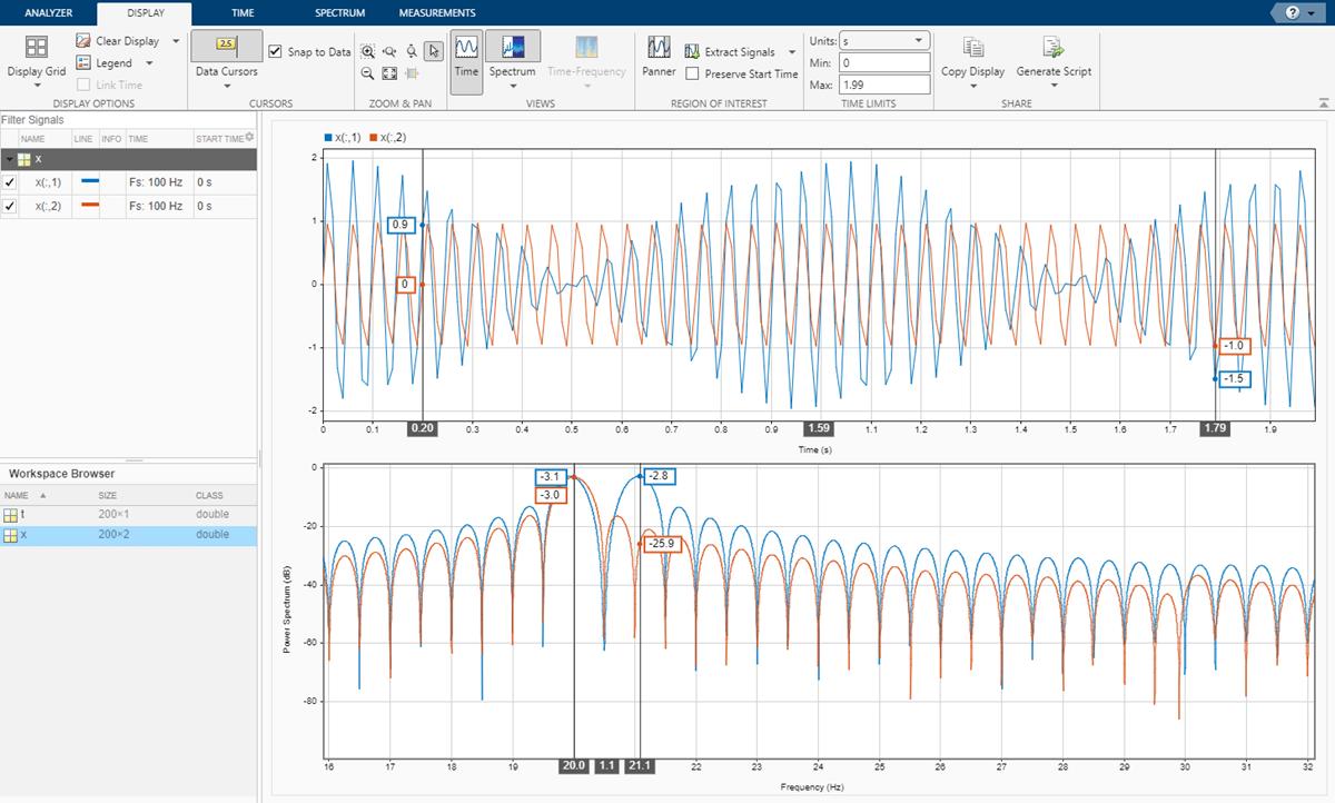 Resolve Tones by Varying Window Leakage - MATLAB & Simulink