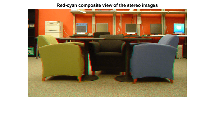 Not recommended) Disparity map between stereo images - MATLAB