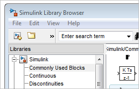 Simulink Library Browser.