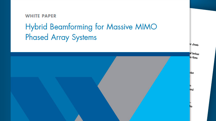 Hybrid Beamforming for Massive MIMO Phased Array Systems