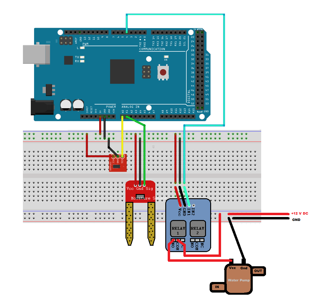 Build A Smart Plant Watering System With Arduino And Simulink Sensor Circuit Wiring Diagrams Also Humidity Schematic This Project Connects The To Thingspeak Allows You Collect Data From Sensors Run Matlab Analytics In Cloud