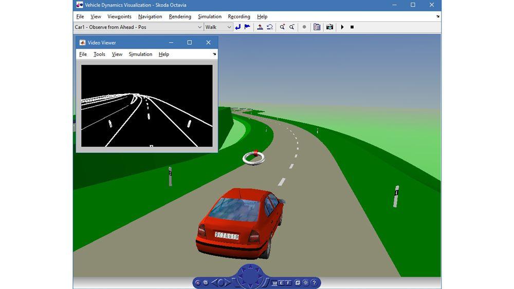 Simulazione della dinamica di un veicolo.