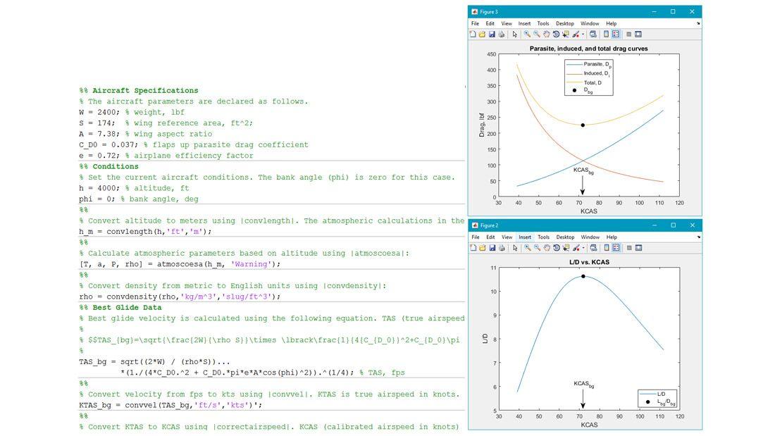Esempio di esecuzione di calcoli relativi alla planata.