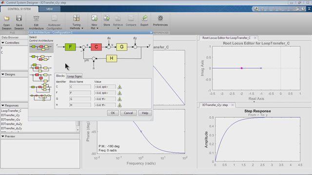 Progettare sistemi di controllo con SISO Design tool.
