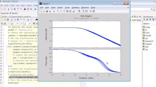 Creare uno script per eseguire la regolazione in modalità batch e la linearizzazione di modelli Simulink.