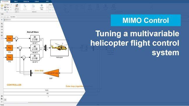 Regola automaticamente un sistema di controllo di volo multivariabile utilizzando l'app Control System Tuner.
