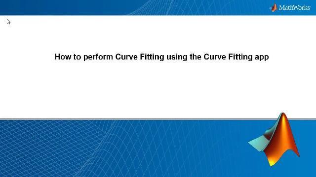 Scopri come eseguire l'adattamento delle curve in MATLAB usando l'app Curve Fitting e come adattare dati con rumore con una smoothing spline.