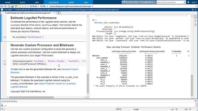 Personalizza un'implementazione FPGA di un processore di deep learning e genera RTL sintetizzabile.