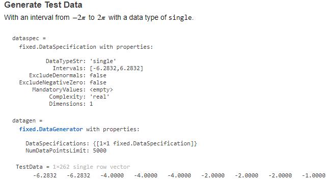 API del generatore di dati.
