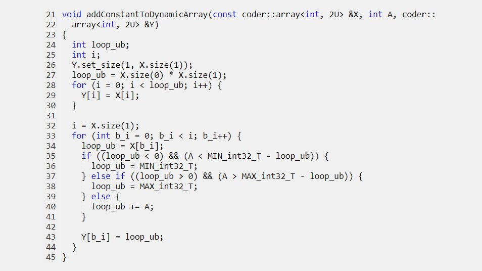 Passaggio dinamico degli array allocati alle funzioni generate.