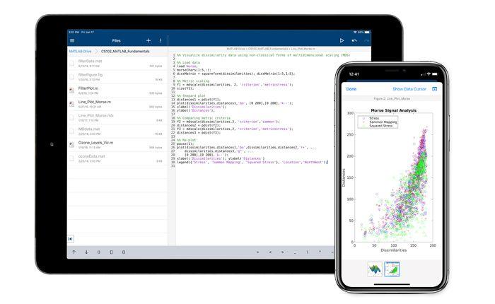 MATLAB Mobile Collegati al Cloud
