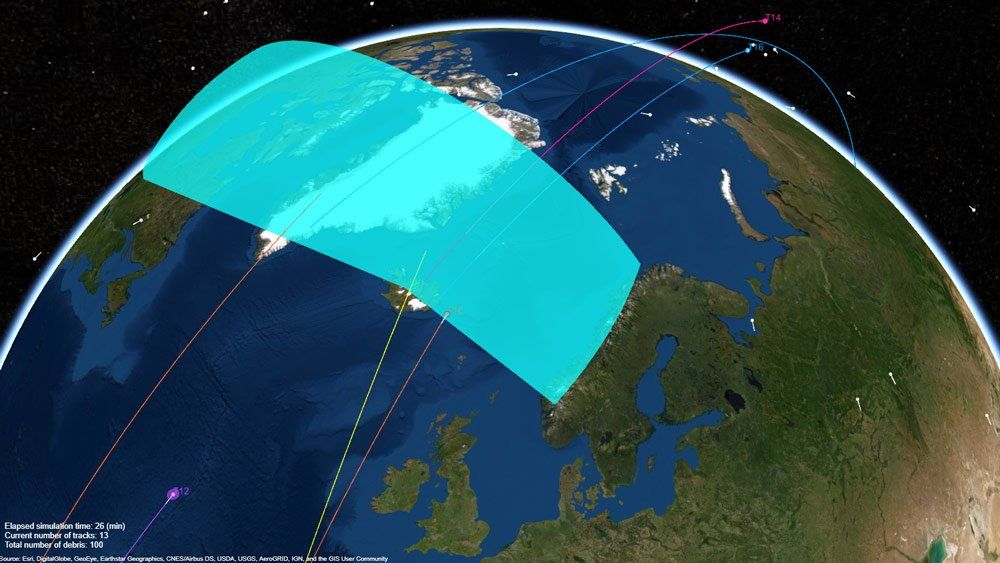 Sistema radar che esegue il tracking dei detriti spaziali in orbita attorno alla Terra.