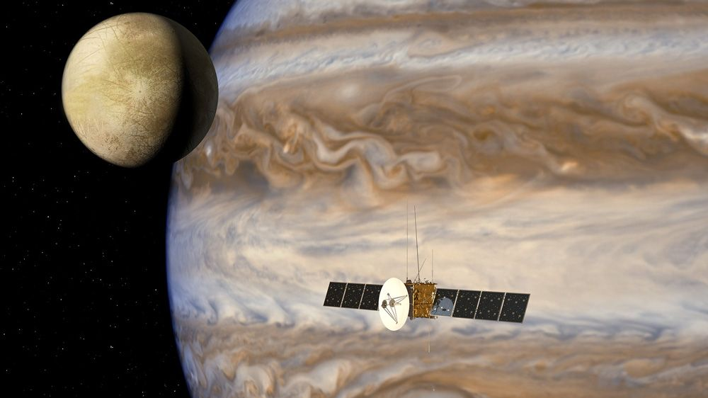 Airbus Defence and Space simula il flusso di dati della missione Jupiter Icy Moons Explorer.