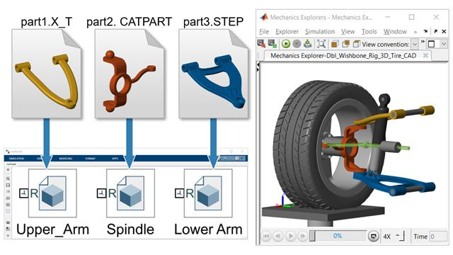 Leggere dati CAD nativi in Simscape Multibody