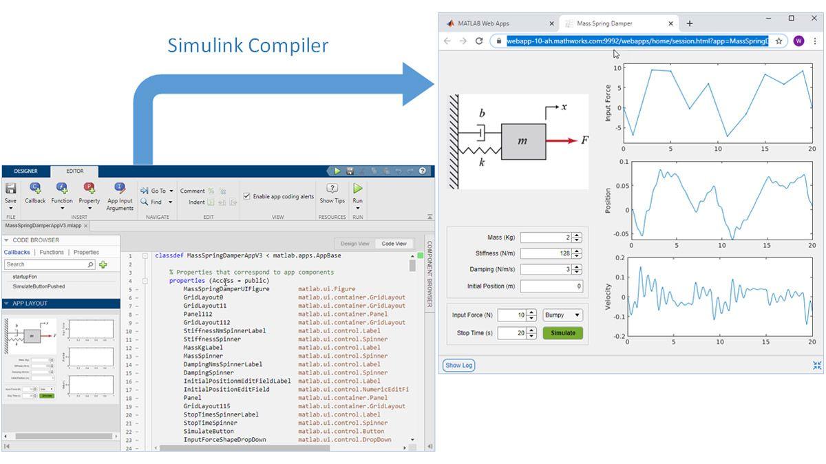 Pacchettizzazione dell'applicazione creata da MATLAB App Designer come un'app web.