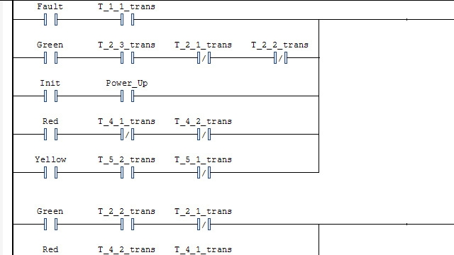 Generazione di un ladder diagram e relativa importazione in un IDE.
