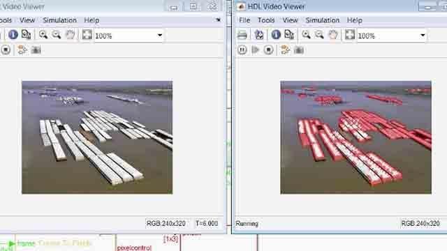 Usa Vision HDL Toolbox per creare un'implementazione streaming per hardware di un algoritmo di rilevamento degli angoli.
