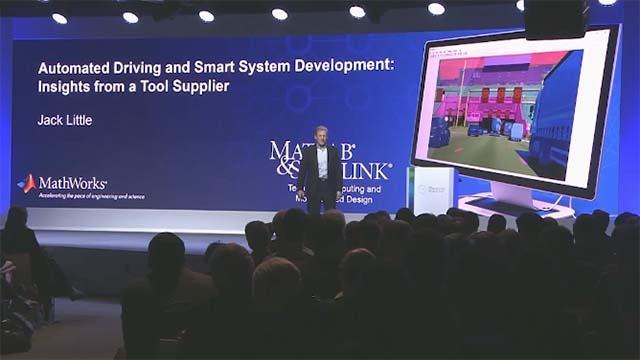 Ascolta l'intervento di Jack Little, presidente e co-fondatore di MathWorks, a Bosch Connected World 2018 a proposito degli strumenti e dei processi necessari allo sviluppo di sistemi automotive altamente affidabili e sempre più autonomi.