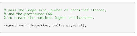 Segmentazione semantica - Codice per la creazione dell'architettura SegNet