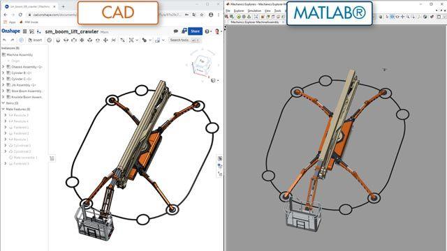 Piattaforma di lavoro aerea, importazione CAD
