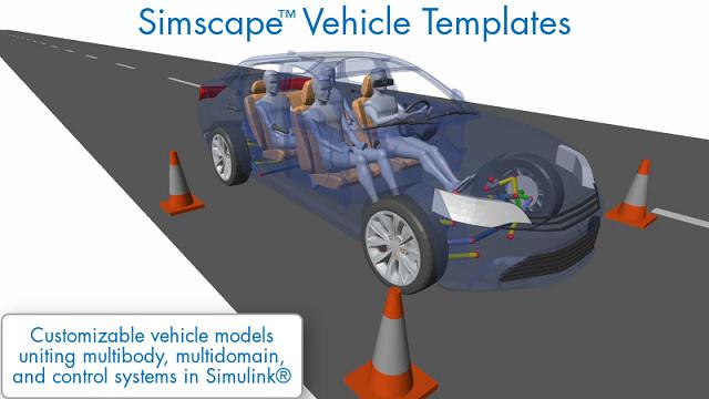 Scopri come, grazie a Simscape Vehicle Templates, potrai avere un modello di veicolo personalizzabile, da usare per un'ampia gamma di attività di progettazione di veicoli.