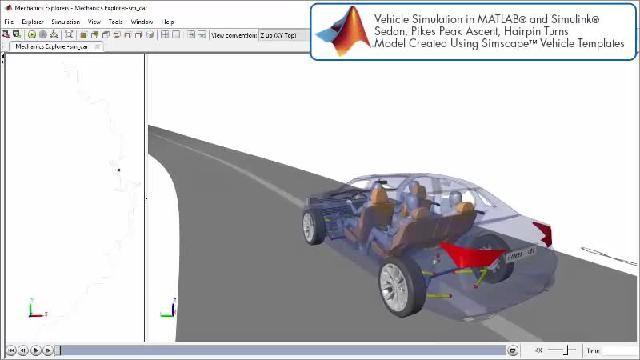 Guarda un'animazione che illustra una simulazione di un progetto di motopropulsore con Simscape.