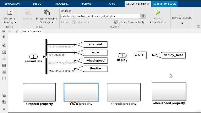 Scopri come eseguire dimostrazioni di proprietà con Simulink Design Verifier e come eseguire il debug di un controesempio generato automaticamente con lo strumento Model Slicer di Simulink Check.