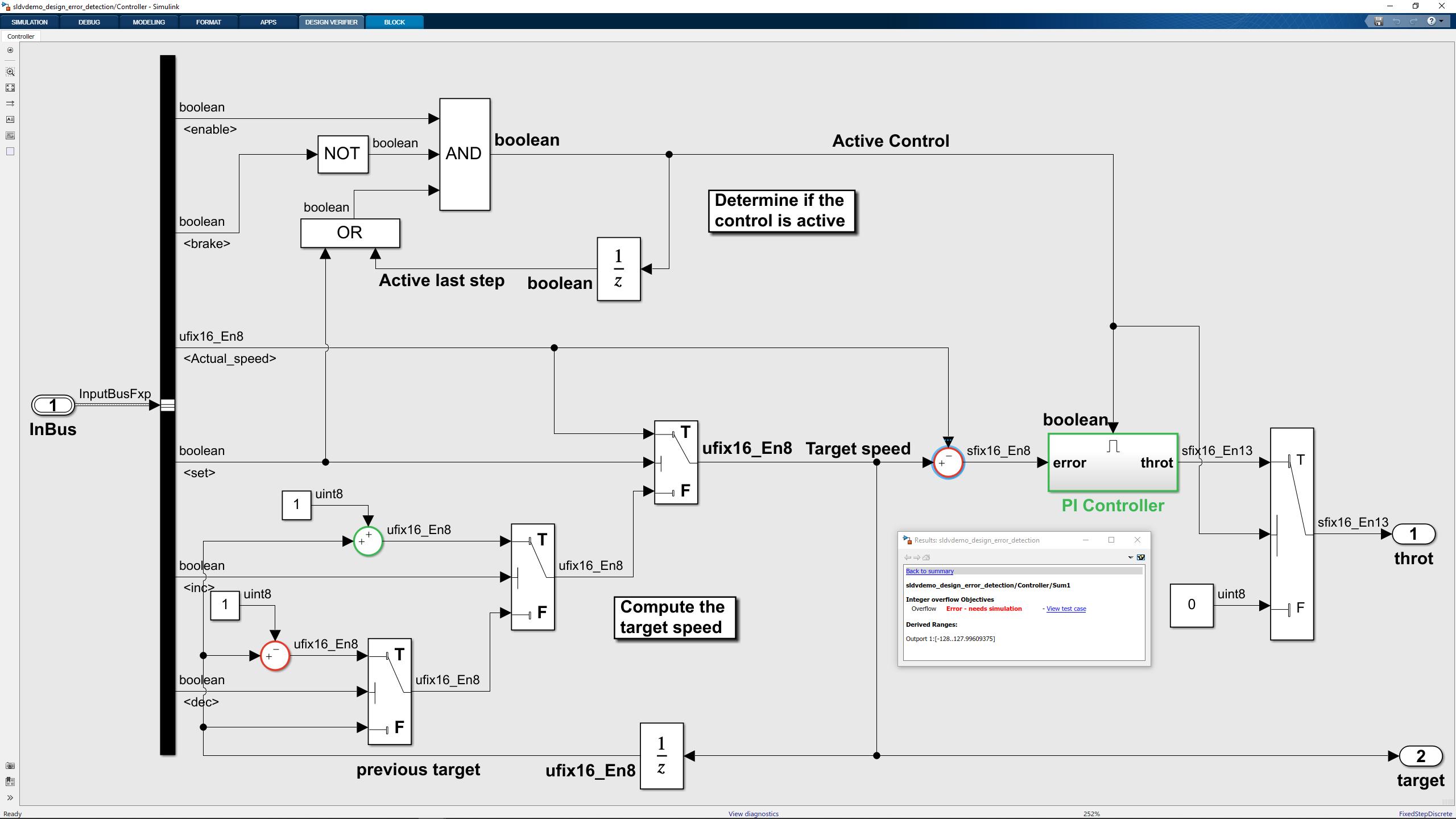 Introduzione a Simulink Design Verifier