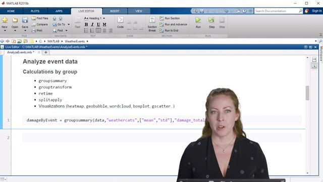 Learn several common ways to analyze data in MATLAB. This video outlines, step by step, how to perform analysis by group and how to do change point detection.