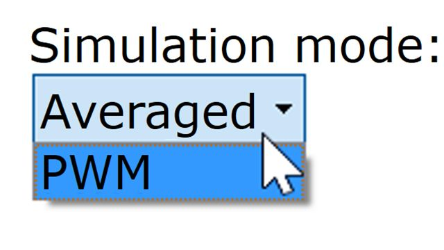 Select model variants and simulation modes appropriate for your simulation needs. Nonlinearities and switching effects are added to Simscape Electrical models to assess their effect on a design.
