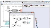 Model three-dimensional mechanical systems. Develop symbolic expressions and equations of motion, and build dynamic models that can be used for numeric simulation. Directly import mechanisms from popular CAD packages.