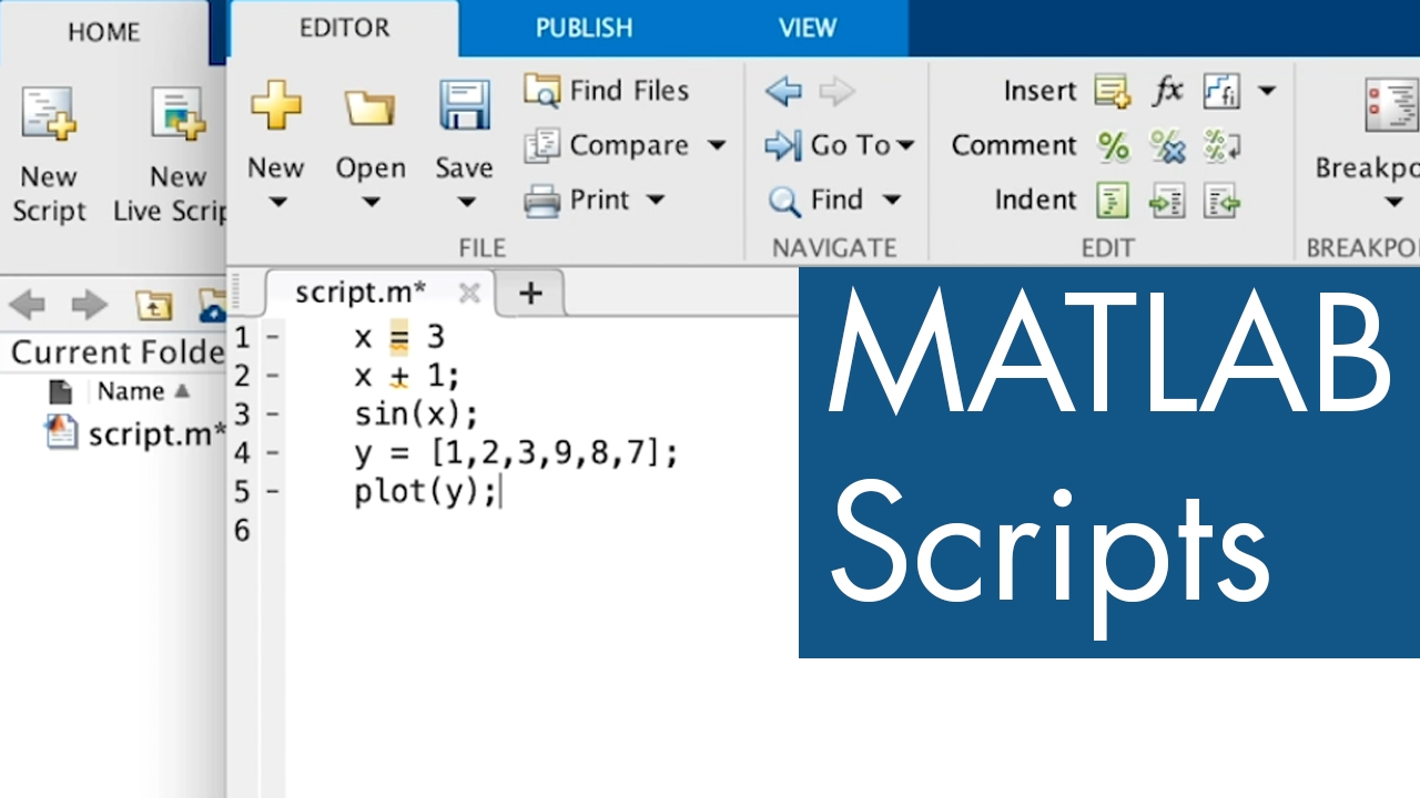 This video will show how and why you write script files in MATLAB.