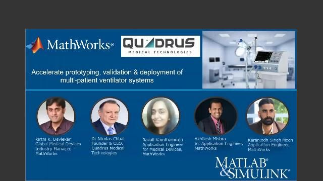 Learn about the COVID BreathSIM project and how MathWorks and Quadrus Medical Technologies collaborated to simulate multi-patient ventilator systems using a Model-Based Design approach.